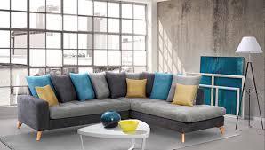 canap gris fonc canape d angle à droite morea gris fonce gris clair bleu jaune