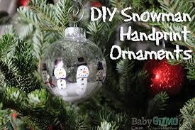 diy snowman ornaments diy snowman handprint ornaments