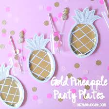 doo dah gold pineapple party plates