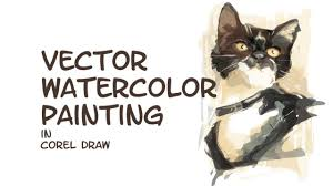 vector watercolor painting in corel draw hd youtube