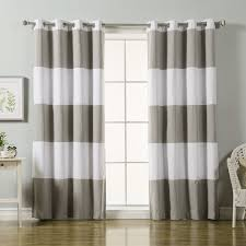 Blackout Curtain Panels With Grommets Laurel Foundry Modern Farmhouse Sammy Striped Blackout Thermal