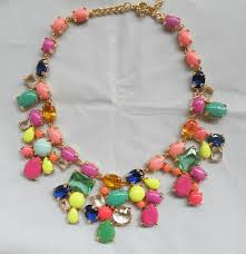 crystal design necklace images New arrival fashion j unique crystal design chunky luxury bib jpg