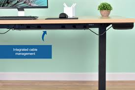 standing desk cable management orren ellis bradford ergonomic adjustable height electric standing