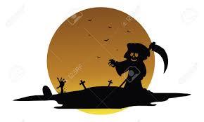 halloween silhouette vector scary warlock halloween silhouette vector art illustration royalty