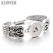 diy metal bracelet images New gold silver snap bracelet for women fit diy 18mm snap jewelry jpg