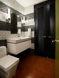 small half bathroom layout brown laminated wooden frame dark white