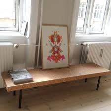 ikea sinnerlig sofa table used as bench in the dining room work