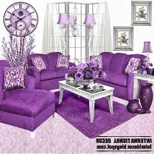 purple living room furniture modern rectangular light blue white