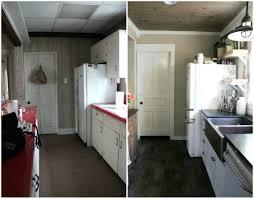 Before And After White Kitchen Cabinets Tiles Ceramic Tile Kitchen Floor Designs Tile Floor Under