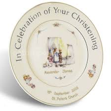 christening gifts personalised christening plate gettingpersonal co uk