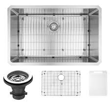 VIGO Undermount Stainless Steel  In Single Basin Kitchen Sink - Kitchen sink grates