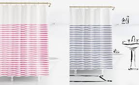 Kate Spade Striped Shower Curtain Kate Spade Shower Curtain Gold And White Striped Shower