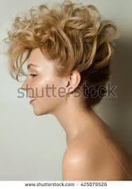 large hair beauty portrait curly hair stock photo 95259577