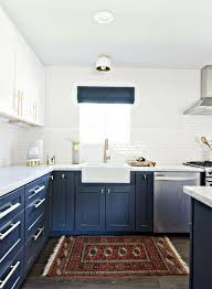slate blue painted kitchen cabinets stylish two tone kitchen cabinets for your inspiration hative