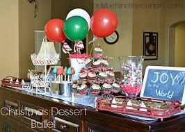 christmas dessert buffet maple nut pie bars