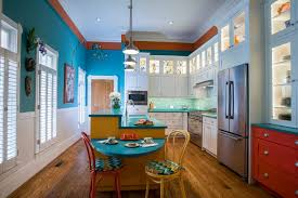 blue kitchen cabinets and yellow walls 37 colorful kitchen ideas to brighten your cooking space