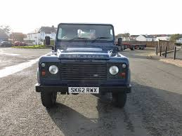 navy land rover used land rover defender blue for sale motors co uk