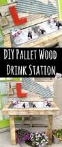 how to make a unique diy cooler pallet outdoor drinking station