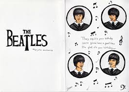 the beatles birthday card caley pinterest beatles birthday