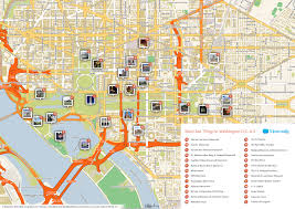 Map Of Washington by File Washington Dc Printable Tourist Attractions Map Jpg