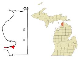 Michigan Breweries Map by Petoskey Michigan Wikipedia