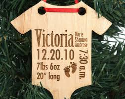 personalized baby christmas ornament personalized baby s christmas ornament solid wood