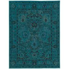 home decorators area rugs home decorators collection overdye teal 4 ft x 6 ft area rug