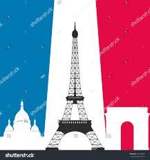 French Flag Eiffel Tower Paris Eiffel Tower Symbol Landmarks Vector Stock Vector 344130560