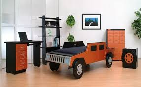 Car Themed Home Decor Cool Bedroom Ideas For Kids With Cars Model Race Car Bed Design