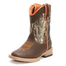 s boots cowboy barrel toddler boys buckshot square toe cowboy boots camo