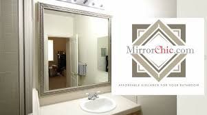 mirrorchic the bathroom mirror framing system that u0027s affordable