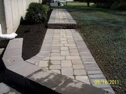 Walkway Ideas For Backyard by Walkway Installation Photos Madecorative Landscapes Inc