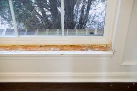 How To Trim Windows Interior How To Replace The Interior Window Sill And Trim Craving Some