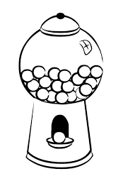 bubble gum machine coloring pages download free printable