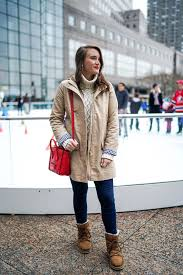 womens ugg lodge boot a day downtown in chateau trench coat covering the bases