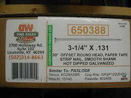 nails 3 1 4 12d off set full round head acq galvanized 30 35