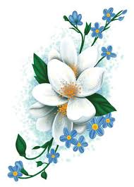white flowers vintage floral temporary tattoo tatt me