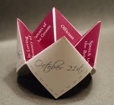 unique wedding programs wedding program cootie catcher diy ceremony favor