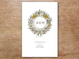 wedding program printable wedding program monogram e m papers