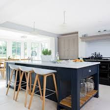 stools for island in kitchen modern kitchen with painted shaker units beautiful kitchen