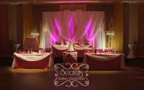 wedding backdrop setup a crystallized fuchsia wedding ceremony and reception decoration
