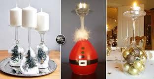 decorazioni bicchieri portacandele natalizi con bicchieri di vetro fai da te 20 idee