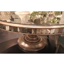 mirror dining room table tempest hollywood regency champagne antique mirror round dining