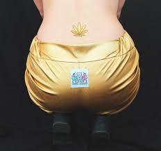 gold leaf a golden marijuana leaf by tattoonie premium temporary