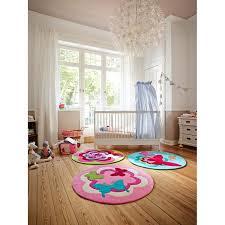 tapis rond chambre tapis rond chambre fille flower 150x150 par esprit
