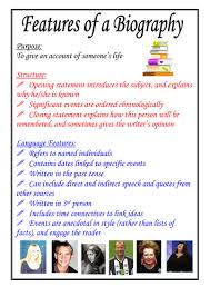biography definition and characteristics features of a biography poster by moshing teaching resources tes