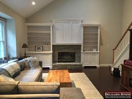veneer stone fireplace project delgado stone distributors