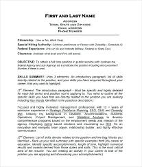 exle skills resume resume for usajobs sle federal resume template free word excel