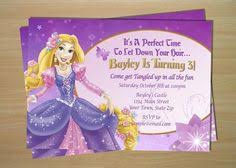girls custom tangled birthday invitations rapunzel invitation