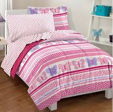 Pink Full Size Comforter Girls Full Size Comforter Set Purple Butterfly Floral Kids Bedding